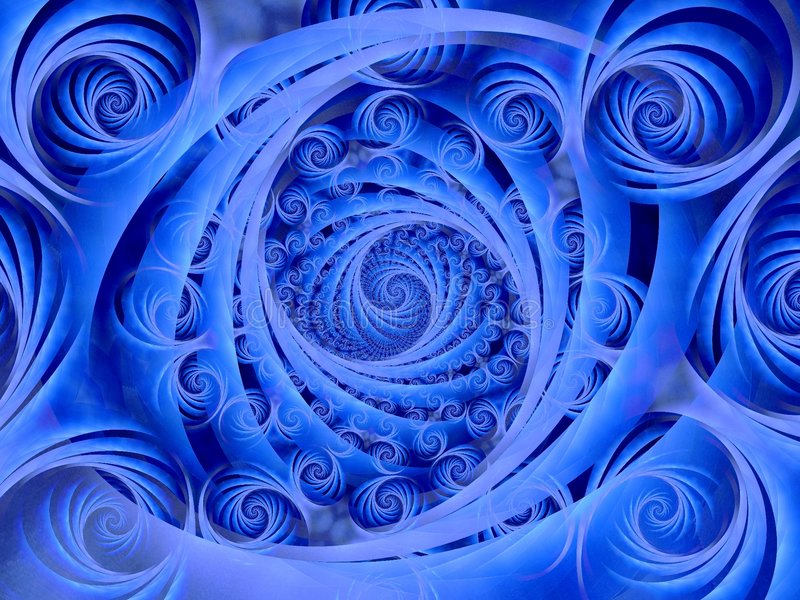Wispy Blue Spirals Pattern. A series of whispy swirls and spirals in a wispy blue texture pattern stock images