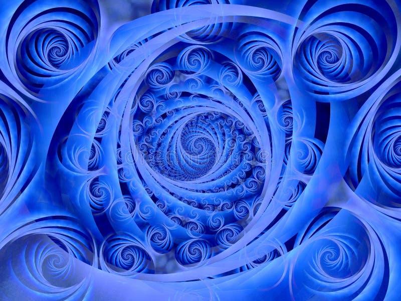 Wispy Blue Spirals Pattern stock images