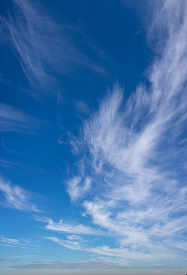 Wispy chmur nieba pionowo panorama zdjęcia stock