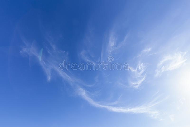 Wispy clouds and blue skies 0135 stock image