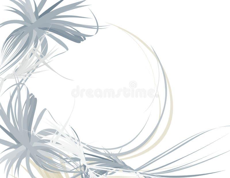 wispy för blå kant för bakgrund feathery stock illustrationer