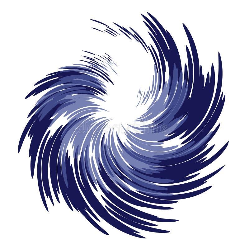 Wispy gefiederter blauer Strudel stock abbildung