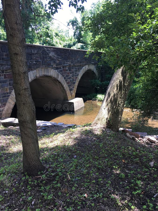 Wissahickon Creek Stonebridge Overpass stock photo