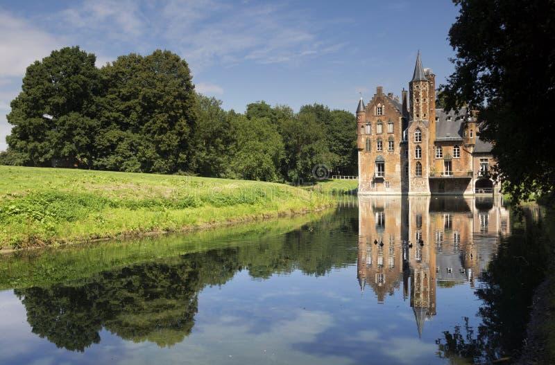 Wissekerke castle in Bazel. Wissekerke castle is a moated castle in the village Bazel in the Belgium province East Flanders stock photo