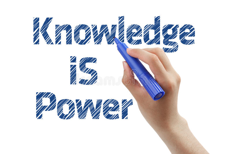 Wissen ist Leistung lizenzfreie stockfotografie