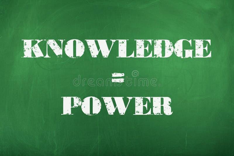 Wissen ist Leistung lizenzfreie stockfotos