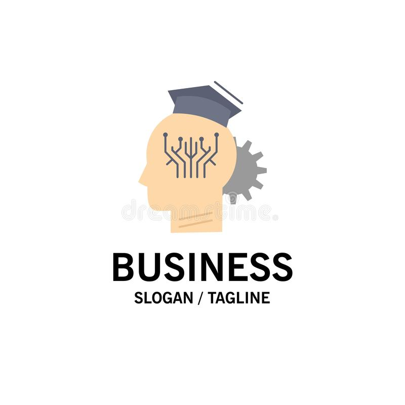 Wissen, Management, Teilen, intelligent, Technologie flacher Farbikonen-Vektor stock abbildung