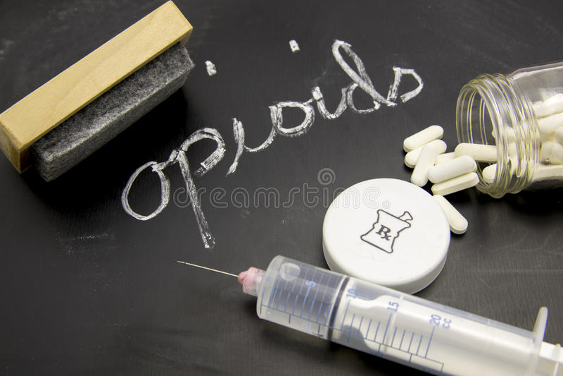 Wissende opioids stock foto