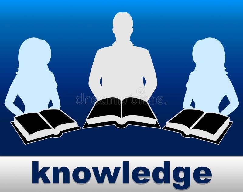 Wissens-Bücher zeigt Leistungsfähigkeit Lehrbuch und Expertness an stock abbildung