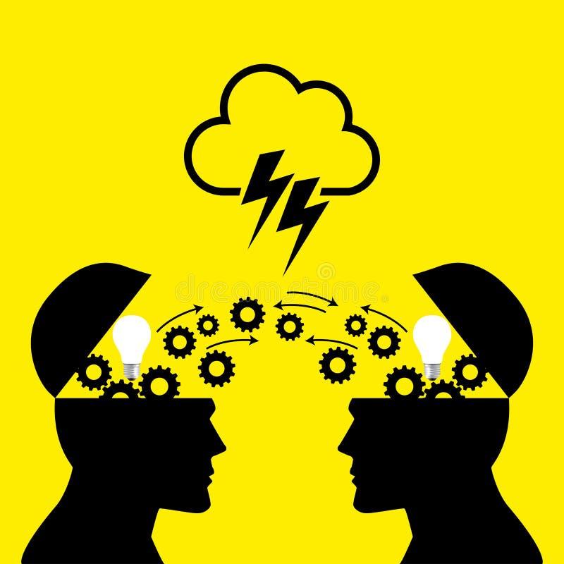 Wissens-oder Ideen-Übertragung lizenzfreie abbildung