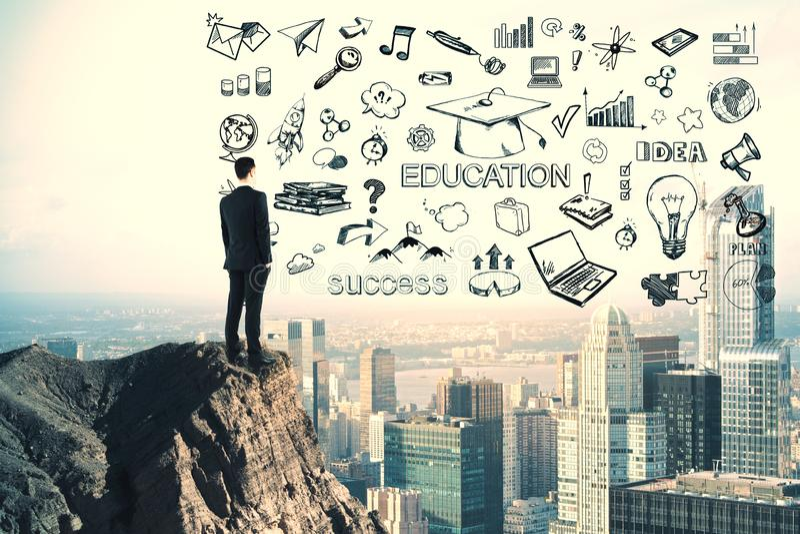 Wissens- und Ideenkonzept lizenzfreies stockfoto