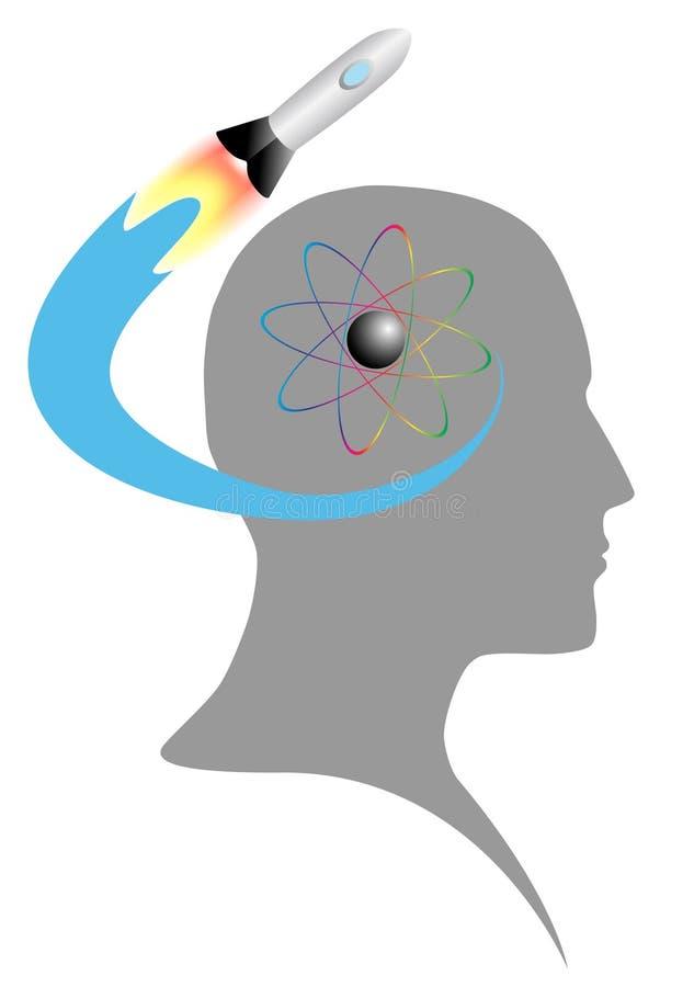 Wissenschaft im Verstand stock abbildung