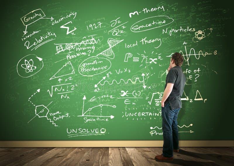 Wissenschaft u. Mathematik stockbild