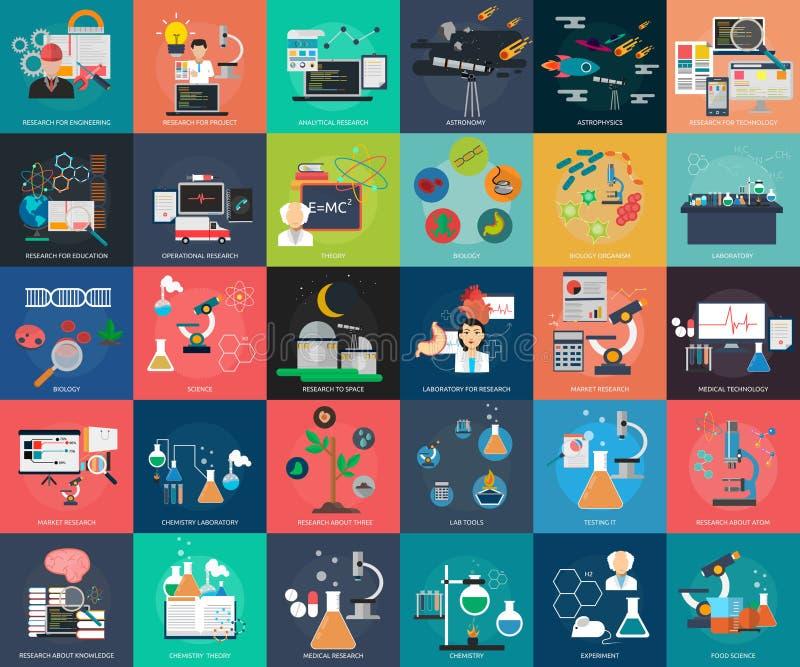 Wissenschaft und Forschung lizenzfreie abbildung