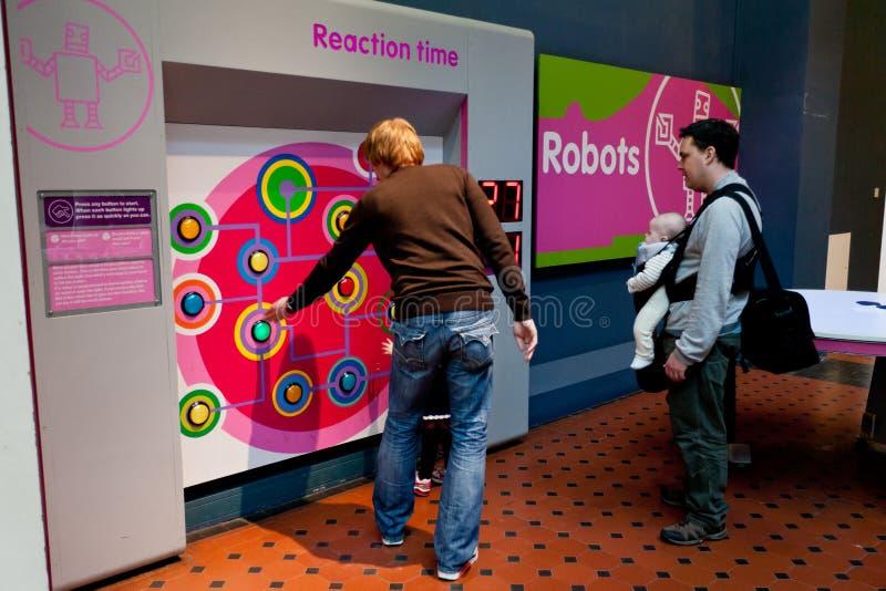 Wissenschaft und Technik-Galerie-nationales Museum von Schottland stockbilder