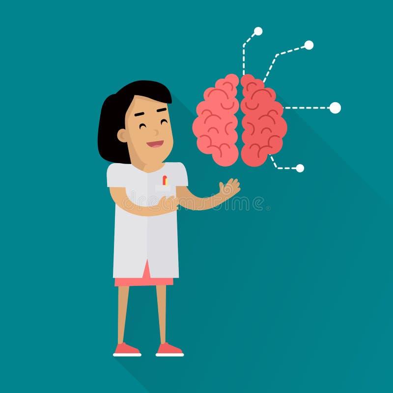 Wissenschaftler-Frau bei der Arbeit lizenzfreie abbildung