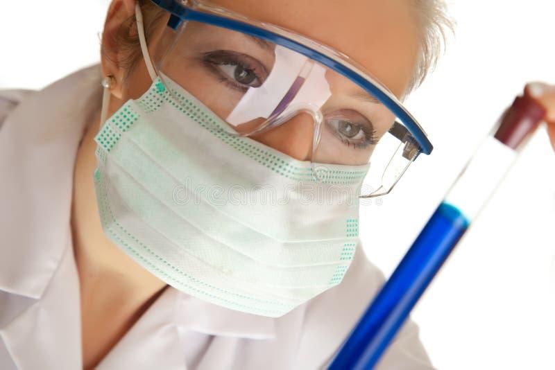 Wissenschaftlerfrau stockbild
