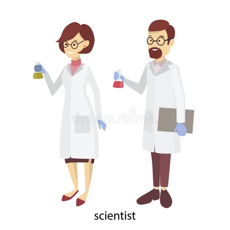 Wissenschaftlerpaare vektor abbildung