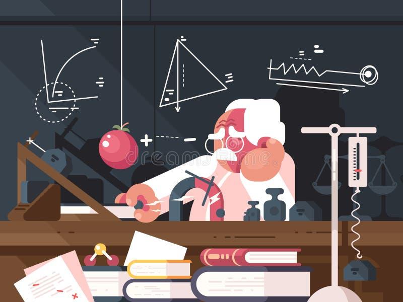 Wissenschaftlerphysik macht Tests stock abbildung