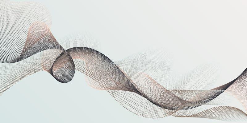Wissenschaftlich erforscht modischen Hintergrund des dynamischen Kurvennetzes lizenzfreie abbildung