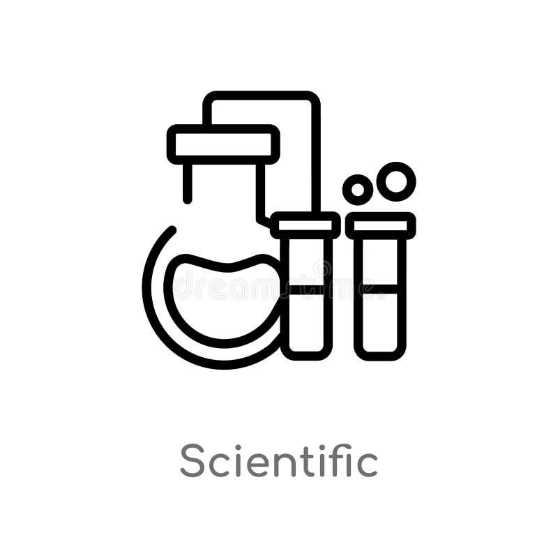 wissenschaftliche Vektorikone des Entwurfs lokalisiertes schwarzes einfaches Linienelementillustration vom Chemiekonzept Editable vektor abbildung