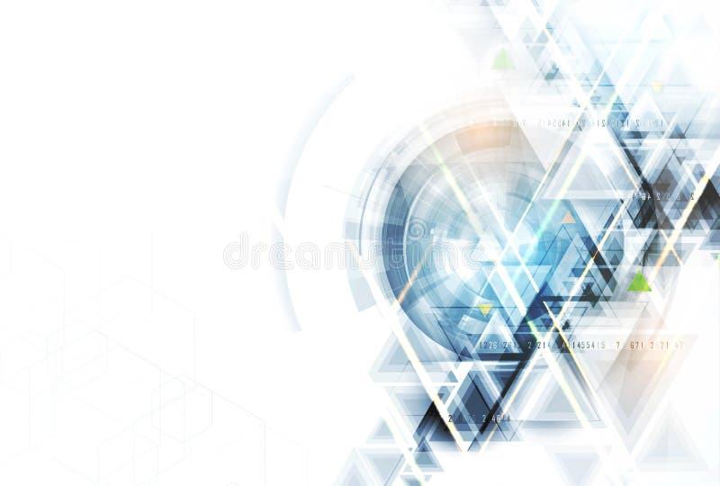Wissenschaftliche zukünftige Technologie Für Geschäfts-Darstellung Flieger, lizenzfreie abbildung