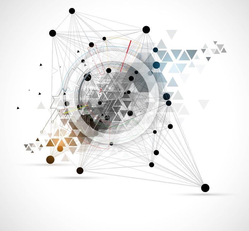 Wissenschaftliche zukünftige Technologie Für Geschäfts-Darstellung Flieger, vektor abbildung