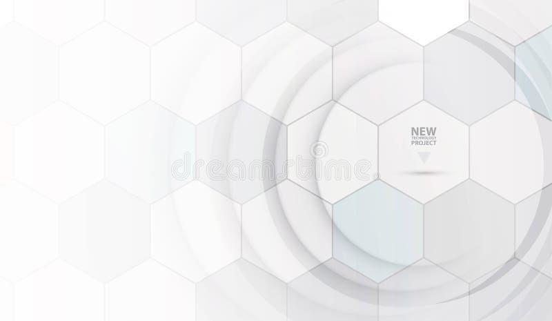Wissenschaftliche zukünftige Technologie Für Geschäfts-Darstellung Flieger, stock abbildung