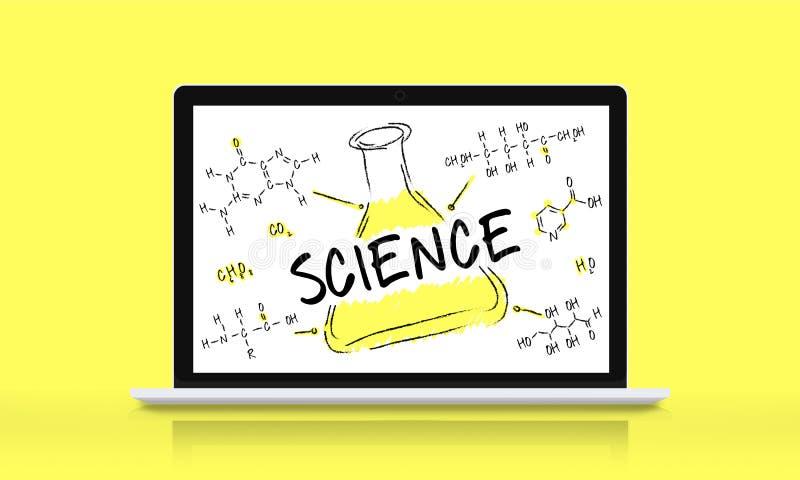 Wissenschafts-Experiment-Laborformel-Chemikalien-Konzept lizenzfreie abbildung