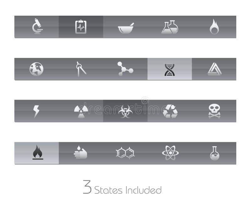Wissenschafts-//-Gel-Stab-Serie stock abbildung