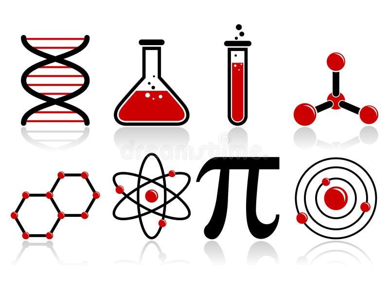 Wissenschafts-Ikonen vektor abbildung