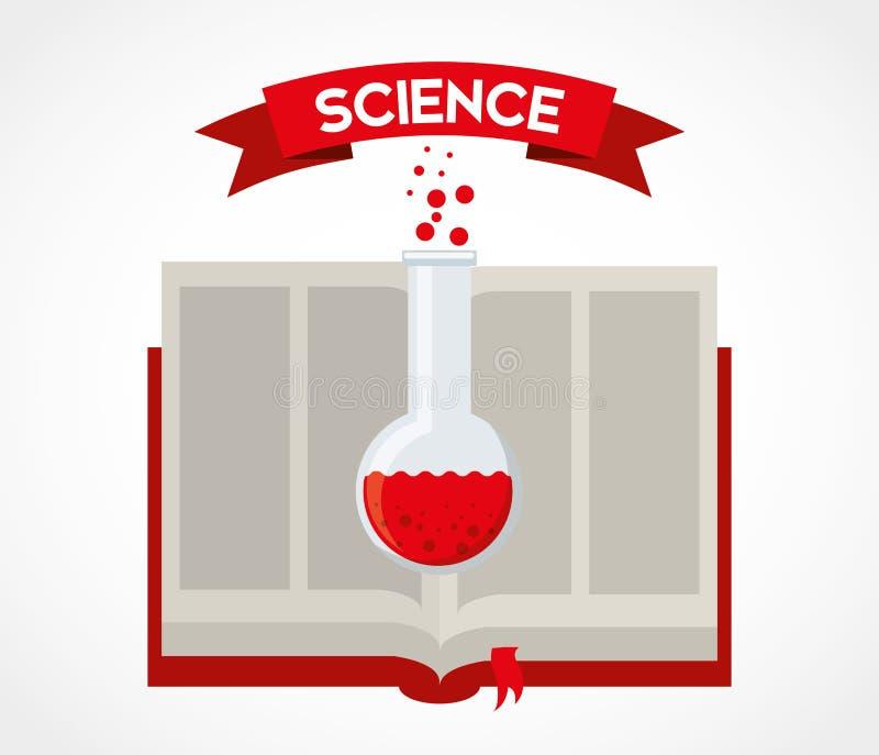 Wissenschaftsbuch vektor abbildung