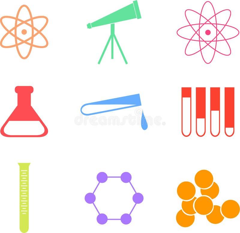 Wissenschaftsformen lizenzfreie abbildung