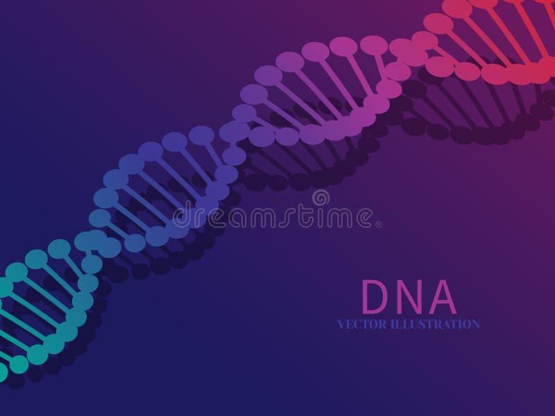 Wissenschaftshintergrund mit DNA lizenzfreie abbildung