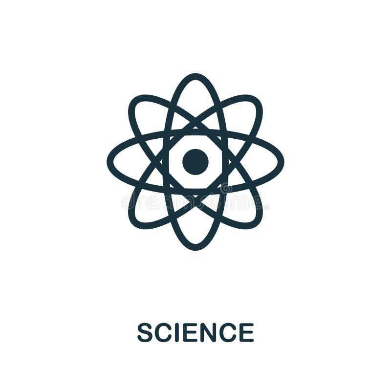 Wissenschaftsvektor-Ikonensymbol Kreatives Zeichen von der Biotechnologieikonensammlung Gefüllte flache Wissenschaftsikone für Co lizenzfreie abbildung