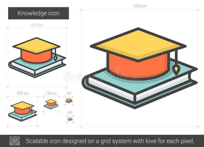 Wissenslinie Ikone vektor abbildung