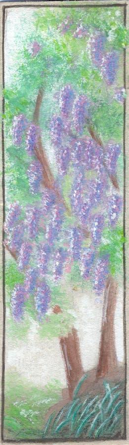 Wisteria royaltyfri illustrationer