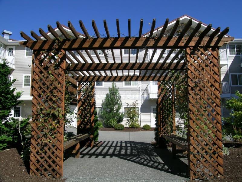 Wisteria Arbor Stock Images