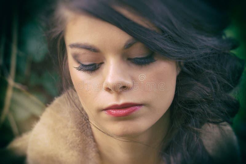 Wistful γυναίκα στοκ φωτογραφίες