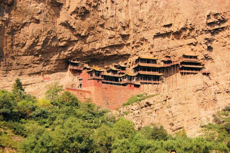 Wisząca monaster świątynia blisko Datong, Chiny fotografia royalty free