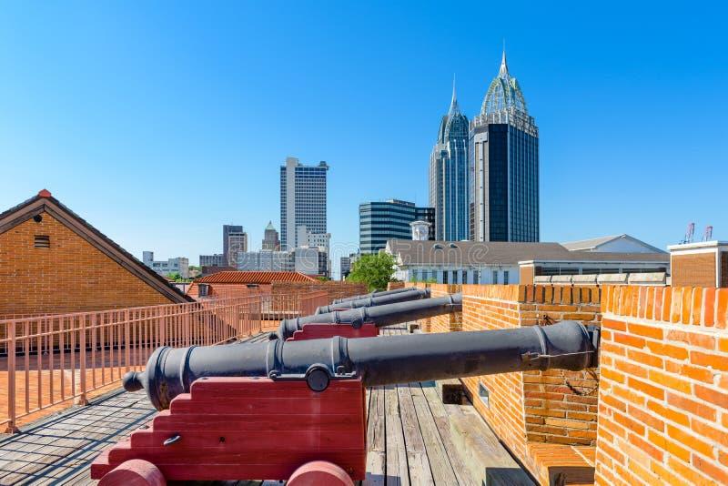 Wisząca ozdoba, Alabama fort i linia horyzontu, fotografia royalty free