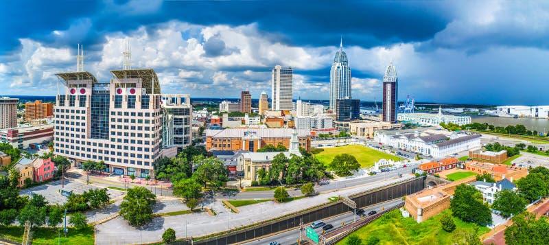Wisząca ozdoba, Alabama, usa linia horyzontu panorama obrazy stock