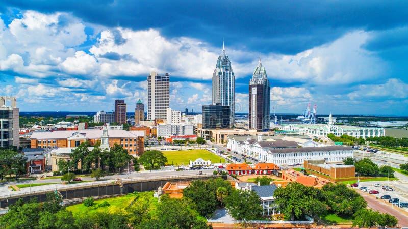 Wisząca ozdoba, Alabama, usa W centrum linia horyzontu antena zdjęcie royalty free