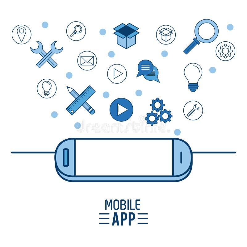 Wisząca ozdoba app infographic ilustracja wektor