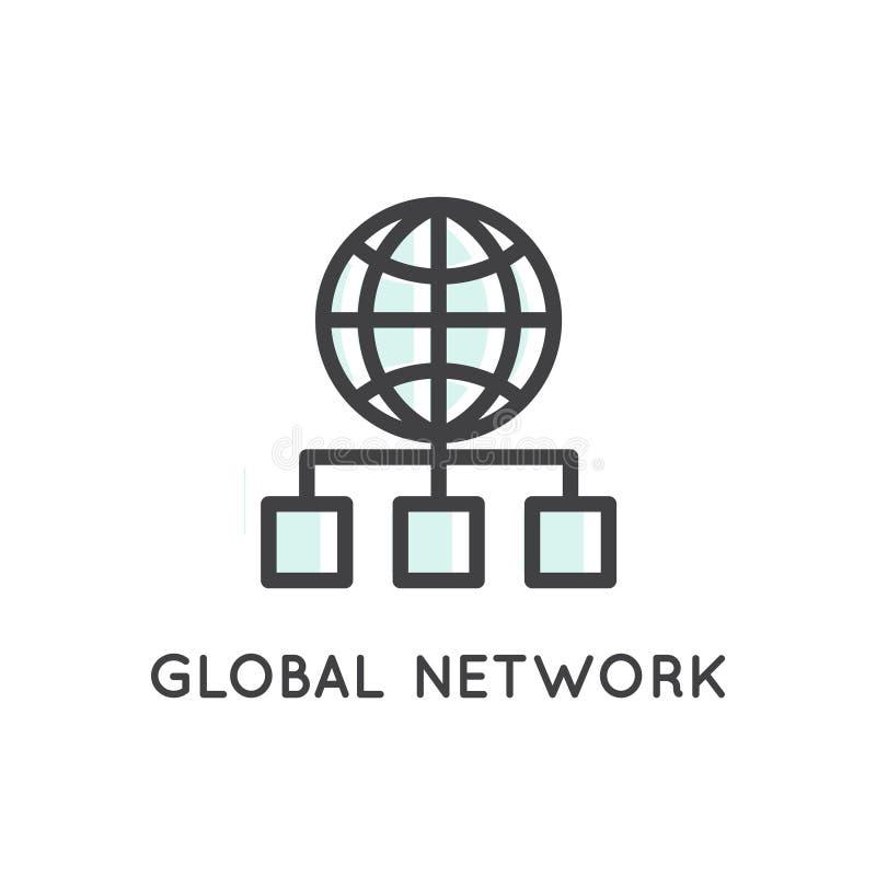 Wisząca ozdoba, App rozwoju narzędzia i procesy, Globalna sieć, magazyn Gości i Kartografuje, połączenie, związek ilustracja wektor