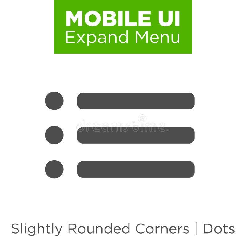 Wisząca ozdoba UI, UX interfejs i doświadczenie projekt ilustracji