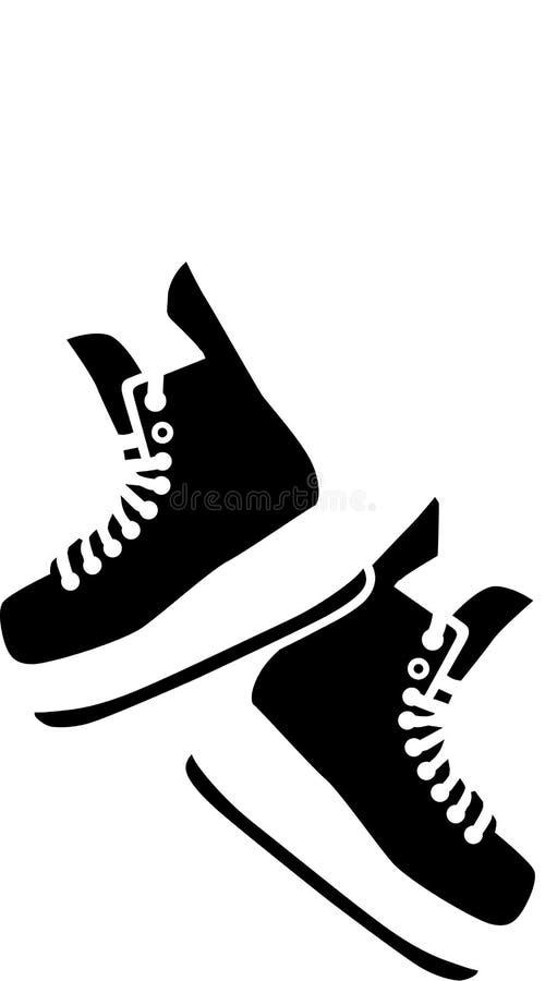 Wiszące hokej łyżwy ilustracja wektor