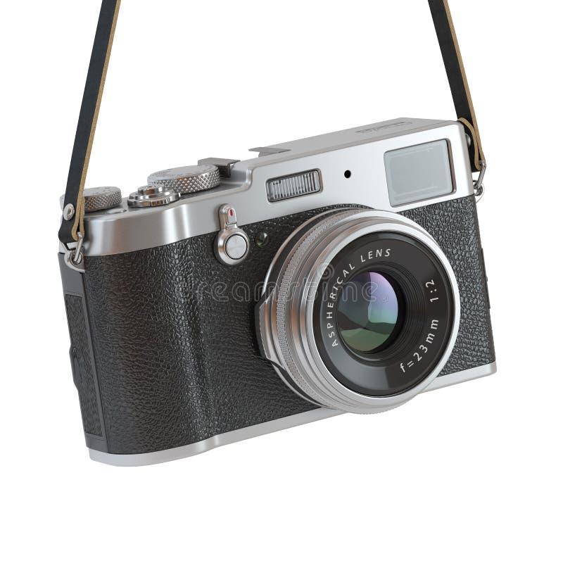 Wiszącego rocznika fotografii retro kamera odizolowywająca na białym backgro royalty ilustracja