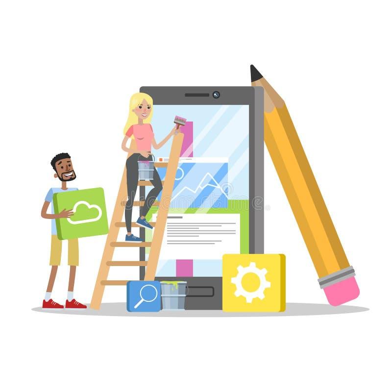 Wiszącej ozdoby app projekt royalty ilustracja