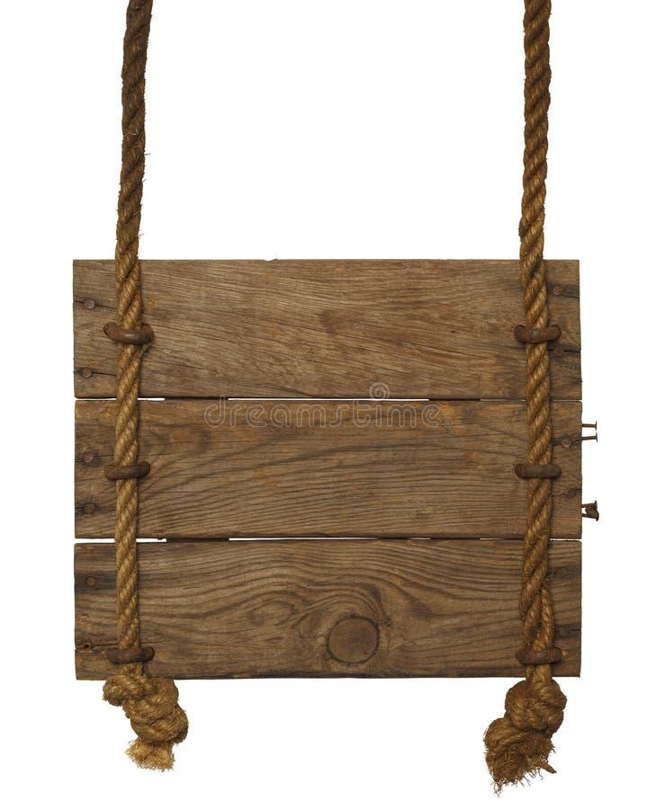 Wiszący drewno znak obrazy royalty free